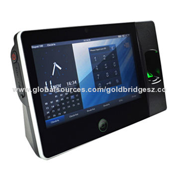 7-inch Touchscreen RFID Fingerprint Time Clock with Wi-Fi Backup
