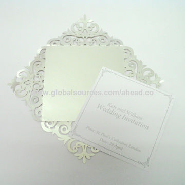 Laser Cut Wedding Invitation Card With 4 Flap Global Sources