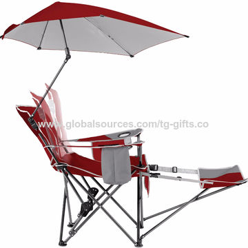 China Folding Beach Chair With Umbrella