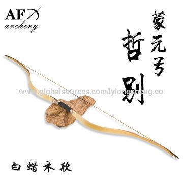 AF archery Mongolian Bow 20-70lbs Traditional Handmade Fiberglass Bow Recurve Bow Long Bow