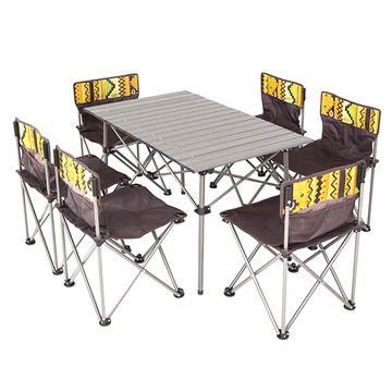 China Outdoor Camping Foldable Chair And Table Set Easy Packaging 6 Chairs And 1 Table On Global Sources Foldable Chairs And Table Camping Foldable Chairs Camping Foldable Table