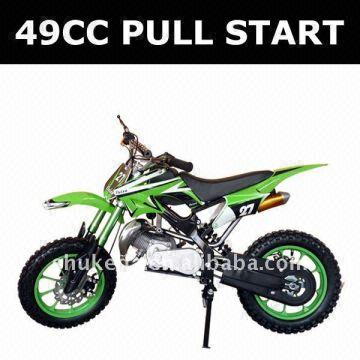 49cc Pull Start Motorcycle 2 Stroke Mini Moto Gas Pocket Bike