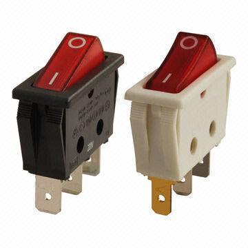 Taiwan Single pole rocker switches, up to 20A 125V AC