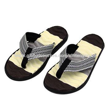 42c02b14df48 Fashion non-slip all-match soft EVA insole woven tape thong massage ...
