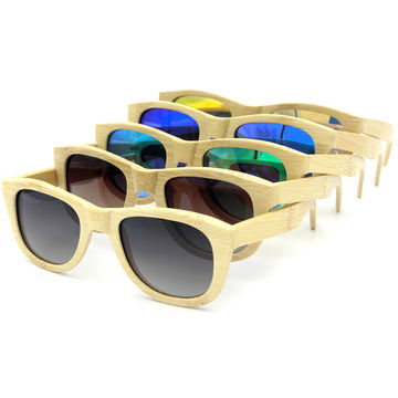 Woodsun wood sun glasses made from bamboo polarized lenses glasses in a