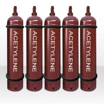 40L Acetylene gas cylinder made in our company with the