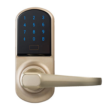 Code Door Lock >> Walnut New Smart Door Lock Unlocking By Smartphones And Pin Code