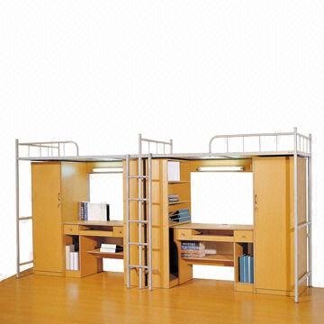 China Dormitory Bunk Bed, Used For College And University, With Wardrobe  And Study Table