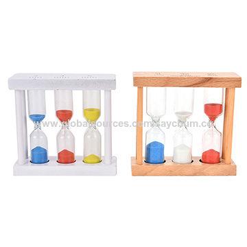 China 1/3/5Min Wood Frame Glass Sand Sand Glass Hourglass Timer ...