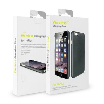China Factory wholesale QI standard fast charging wireless charger receiver phone case for iPhone 6 6s