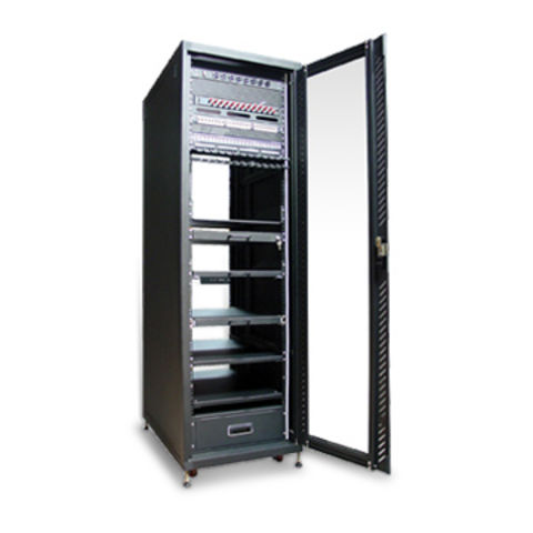 Taiwan 19 Inch Aluminum Cabinet K/D Server Rack With 900mm External Depth  And ...