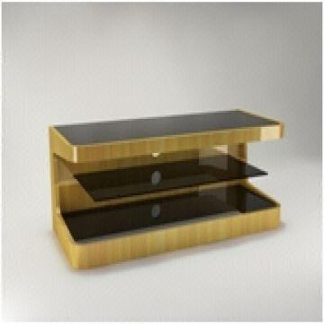 Av Furniture Plasma Lcd Tv Stand Made Of Mdf With Pvc Layer Gold