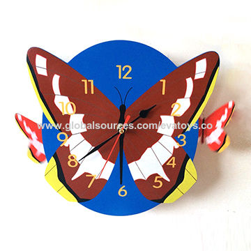 Butterfly Wall Clock China Butterfly Wall Clock