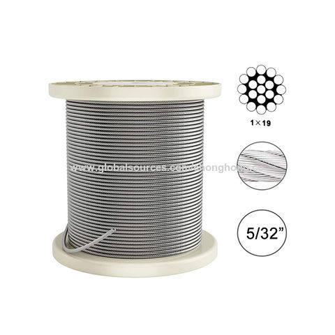 """5//32/"""" Stainless Steel 316 7/"""" x 7/"""" A//C Wire Rope 500/' Reel"""
