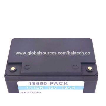 China Lithium-ion battery pack, 12V/10Ah, ABS casing packing, 18650 cell UL 1642 CE comply