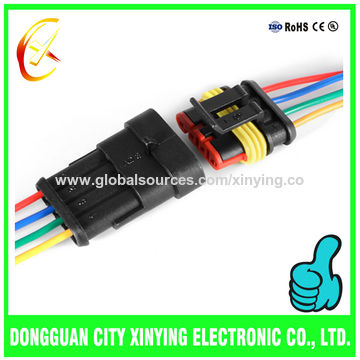 3 Pin AMP Male Connector Plug Electrical Wire Harness for Car ...  Pin Electrical Connectors Automotive Wiring Harnesses on automotive wiring harness, automotive electrical junction boxes, automotive harness electrical tape, automotive electrical components,