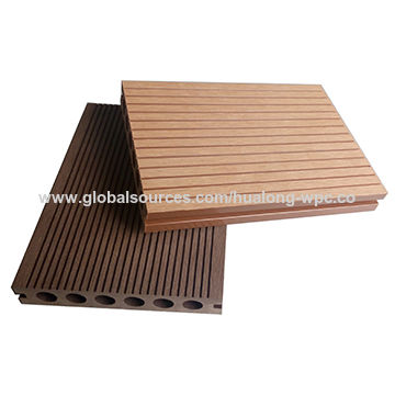 Hollow Wood Plastic Composite Decking For Outdoor Flooring Global