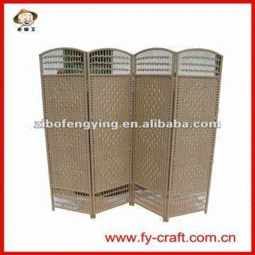China folding screen furniture 1)paper rope,bamboo,wood frame 2)175x45cm