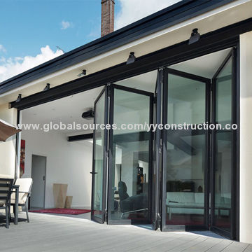 Shop folding doors, with double glazed glass for entrance used ...
