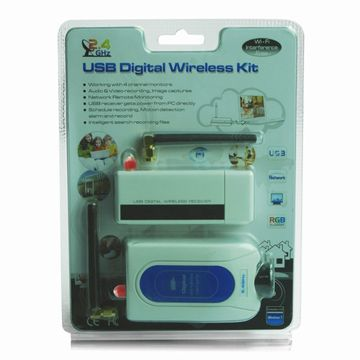 2.4G 4CH Digital Wireless Home Security Kit, Remote Surveillance by Network