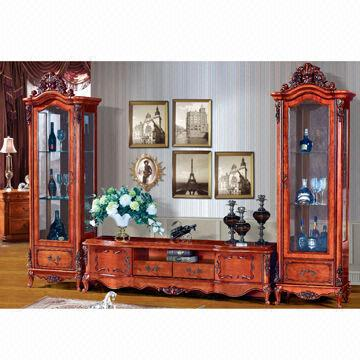 best website 5ee26 69477 Curio Cabinet/Entertainment Unit, Handmade/Carved | Global ...
