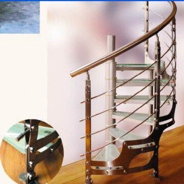 China Stainless Steel Staircase Wooden Stairway Stair Handrail Baluster  Banister
