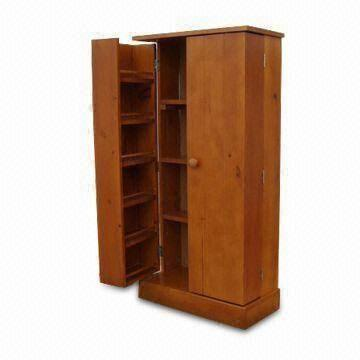 Solid Wooden Pantry Kitchen Cabinet China