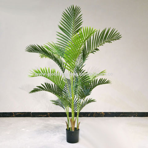 China1 1meters Artificial Fake Synthetic Plastic Plant Palm Tree Bonsai With 1 Pole On Global Sources