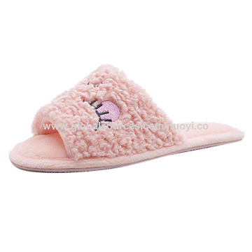 China Lovely Pink Girls\' Flip Flop Bedroom Slippers on ...