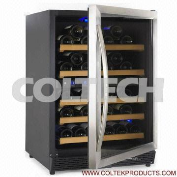 54 Bottles Dual Zones Wall Mounted Wine Cooler With