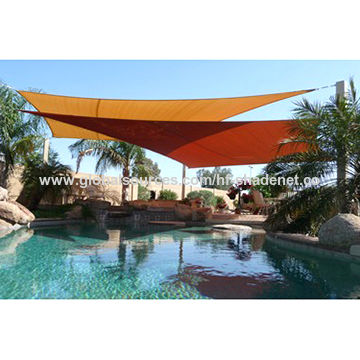 100% virgin HDPE fabric shade sails for kids playing/swimming pool ...
