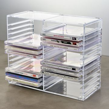 cd stnder acryl trendy us acrylic clear stackable cd holder holds standard cd jewel cases dvd. Black Bedroom Furniture Sets. Home Design Ideas