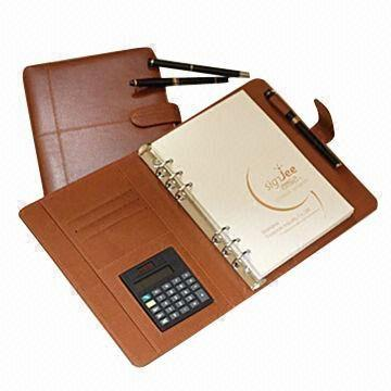 China Notebook with High Grade Leather Cover, Customized Designs are Welcome, Handmade