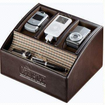 China Leather Charging Station Valet Organizer
