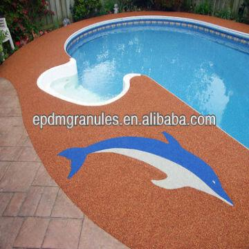 colored EPDM Granules for swimming pool surfaces | Global ...