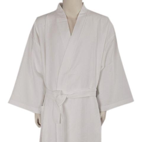 China 100% Cotton Waffle Fabric Kimono Style Bathrobe on Global Sources 45e1278e7