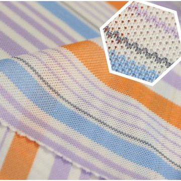 Taiwan Quick Dry Fabric, 100% Polyester Auto Stripe Pique Oxford