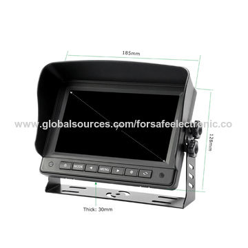 China Waterproof camera AHD/TFT/LCD screen 7-inch review camera system