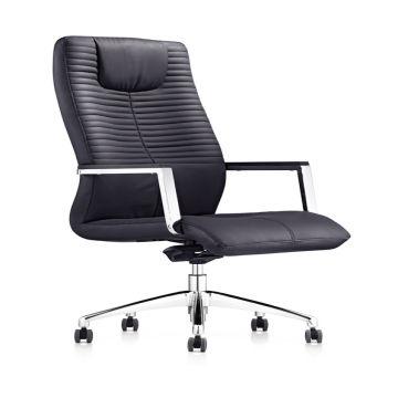 8183 Hot seller Modern Swivel office Chair/Metal Frame high back