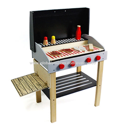 China Preschool Wooden Kid S Play Toy Bbq Set With Kitchen Accessories W10d123b