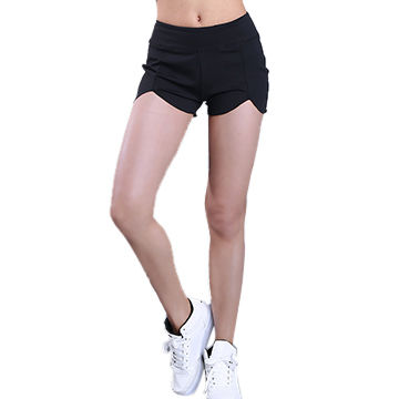 a76d14ec4a China Women's sports shorts yoga leggings with pocket ladies high waist yoga  pants with splicing design ...