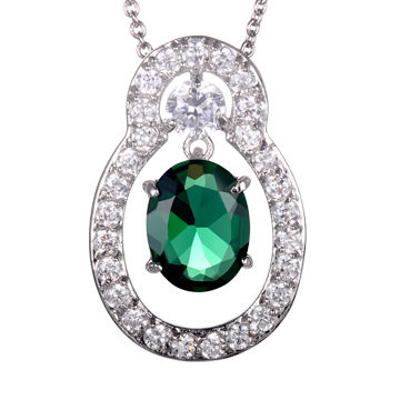 china heady green sea glass pendant necklace - Heady Glass Pendants
