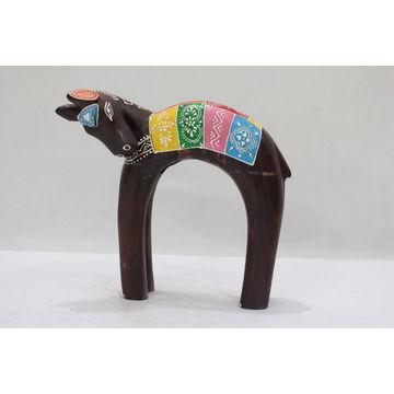 India Wooden elephant art