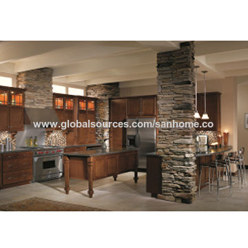 China Custom Made Curved Handless Plywood Round Kitchen Cabinets