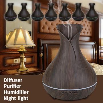 China Aickar Hot Sell/AN-0508 Flower Vase Bamboo/Essential Oil Dark Wood Grain Oil Aroma Diffuser
