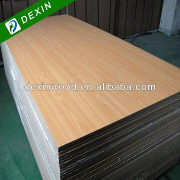China 4 X8 Maple Melamine Laminated Particle Board For Furniture