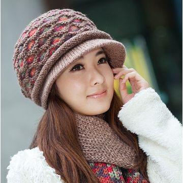 ... China Winter Hat Female Korean Tidal Piece Sheep Wool Scarves Wool Cap  Knitted Hat Winter Hat 90fe35ce4b6