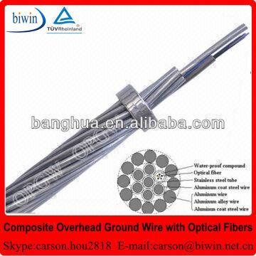 36 Core Optical Fiber Composite Overhead Ground Wire Opgw Cable ...