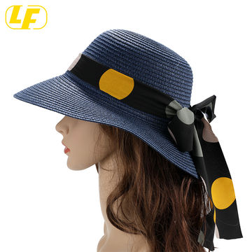 ChinaWomen's Beach Hats for Women Wide Brim Summer Sun hat, Floppy Paper  Straw Foldable Packable on Global Sources