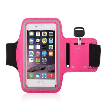 China Summer Sport Gym Armband with Arm-Size Slots and Key Pocket for iPhone 6, 6s, 5s, 5